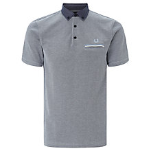 Buy Fred Perry Oxford Collar Pique Shirt, Dark Carbon Oxford Online at johnlewis.com