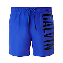 Buy Calvin Klein Intense Power Swim Shorts, Blue Online at johnlewis.com