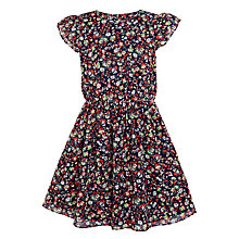 Buy John Lewis Girls' Floral Tea Dress, Blue Online at johnlewis.com