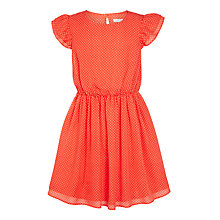 Buy John Lewis Girls' Mini Spot Tea Dress, Coral Online at johnlewis.com