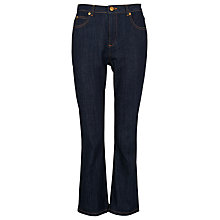 Buy Whistles Cropped Kick Flare Jeans, Denim Online at johnlewis.com