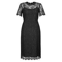 Buy Hobbs Ellen Lace Pencil Dress, Black Online at johnlewis.com