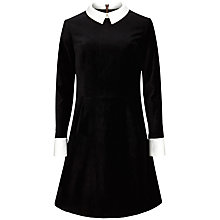 Buy Ted Baker Cheryll Velvet Collar Dress, Black Online at johnlewis.com