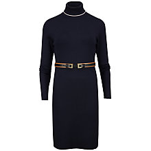 Buy Ted Baker Filina Belt Detail Knitted Dress, Navy Online at johnlewis.com