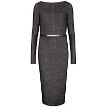 Buy Ted Baker Dafney Metallic Midi Dress, Silver Online at johnlewis.com