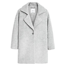 Buy Mango Lapels Wool Coat, Light Pastel Grey Online at johnlewis.com