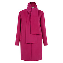 Buy Hobbs Aerona Coat, Bright Pink Online at johnlewis.com