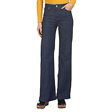 Buy Whistles Wide Flared Jeans, Denim Online at johnlewis.com