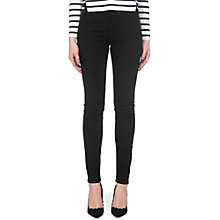 Buy Whistles Mid Rise Skinny Jeans, Black Online at johnlewis.com