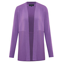 Buy Viyella Edge To Edge Ribbed Cardigan, Purple Online at johnlewis.com