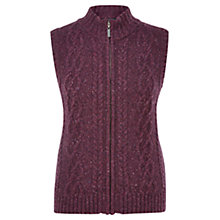 Buy Viyella Petite Cable Knit Gilet, Purple Online at johnlewis.com
