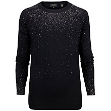 Buy Ted Baker Sapphir Crystal Stud Jumper, Black Online at johnlewis.com