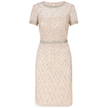Buy Adrianna Papell Beaded Cocktail Dress, Blush Online at johnlewis.com