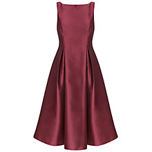Buy Adrianna Papell Sleeveless Tea Length Dress, Burgundy Online at johnlewis.com