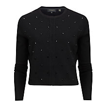Buy Ted Baker Zeldah Bead Embellished Cardigan, Black Online at johnlewis.com