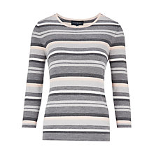 Buy Viyella Metallic Stripe Merino Jumper, Grey Marl Online at johnlewis.com