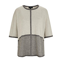 Buy Viyella Tweed Poncho, Grey Marl Online at johnlewis.com