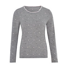 Buy Viyella Embroidered Jumper, Grey Marl Online at johnlewis.com