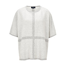 Buy Viyella Cable Knit Poncho, Grey Online at johnlewis.com