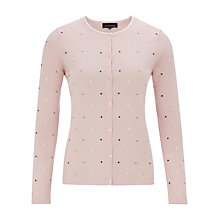 Buy Viyella Spot Embroidered Cardigan, Pale Pink Online at johnlewis.com