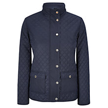 Buy Viyella Petite Quilted Riding Jacket, Navy Online at johnlewis.com