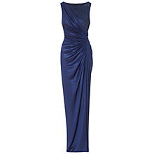 Buy Adrianna Papell Lace Jersey Gown, Navy Online at johnlewis.com