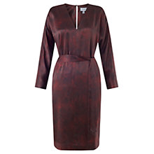 Buy Jigsaw Coldwater Silk Dress, Rosewood Online at johnlewis.com