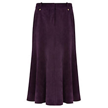 Buy Viyella Petite Corduroy A-Line Skirt, Purple Online at johnlewis.com