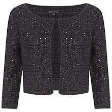 Buy Adrianna Papell Crew Neck Cropped Cardigan, Coastal Online at johnlewis.com