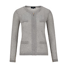 Buy Viyella Tweed Pocket Cardigan, Grey Marl Online at johnlewis.com