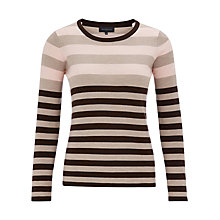 Buy Viyella Striped Jumper, Pale Pink Online at johnlewis.com