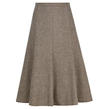 Buy Viyella Petite Fit and Flare Skirt, Chocolate Online at johnlewis.com