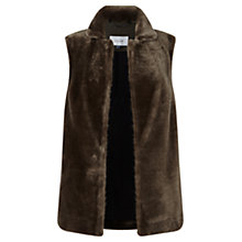 Buy Jigsaw Sheepskin Gilet, Brown Online at johnlewis.com