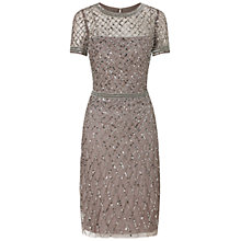 Buy Adrianna Papell Beaded Cocktail Dress, Lead Online at johnlewis.com