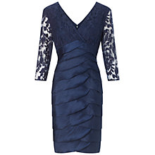 Buy Adrianna Papell Shimmer Shutter Dress, Midnight Blue Online at johnlewis.com