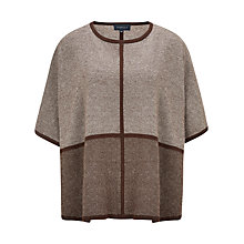 Buy Viyella Tweed Knitted Poncho, Truffle Online at johnlewis.com