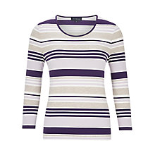 Buy Viyella Stripe Jersey Top, Purple Online at johnlewis.com