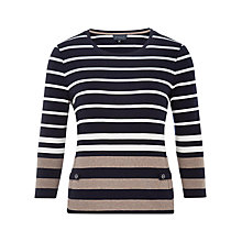 Buy Viyella Petite Marl Stripe Top, Mink Online at johnlewis.com
