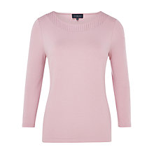 Buy Viyella Pleat Detail Jersey Top, Rose Online at johnlewis.com