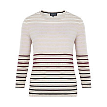 Buy Viyella Marl Striped Jersey Top, Oatmeal Online at johnlewis.com