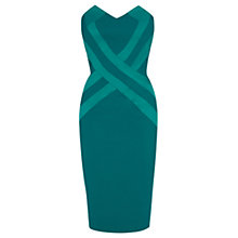 Buy Coast Gratzee Bandeau Dress, Emerald Online at johnlewis.com