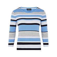 Buy Viyella Petite Winter Stripe Top, Pale Blue Online at johnlewis.com