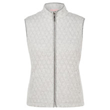 Buy Viyella Quilted Printed Gilet, Grey Marl Online at johnlewis.com
