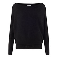 Buy Jigsaw Ottoman Jumper, Charcoal Online at johnlewis.com