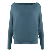 Buy Jigsaw Ottoman Sweater, Dusky Blue Online at johnlewis.com