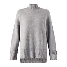Buy Jigsaw Soft Stretch Polo Sweater, Mel Grey Online at johnlewis.com