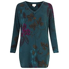 Buy East Wednesday Print Jumper, Teal Online at johnlewis.com