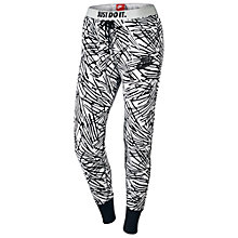 Buy Nike Rally Printed Jogger Tights, Black/White Online at johnlewis.com
