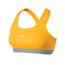 Buy Nike Pro Classic Sports Bra, Varsity Maize Online at johnlewis.com