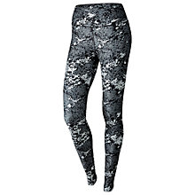 Buy Nike Legend Poly Drift Training Tights, Black/White Online at johnlewis.com